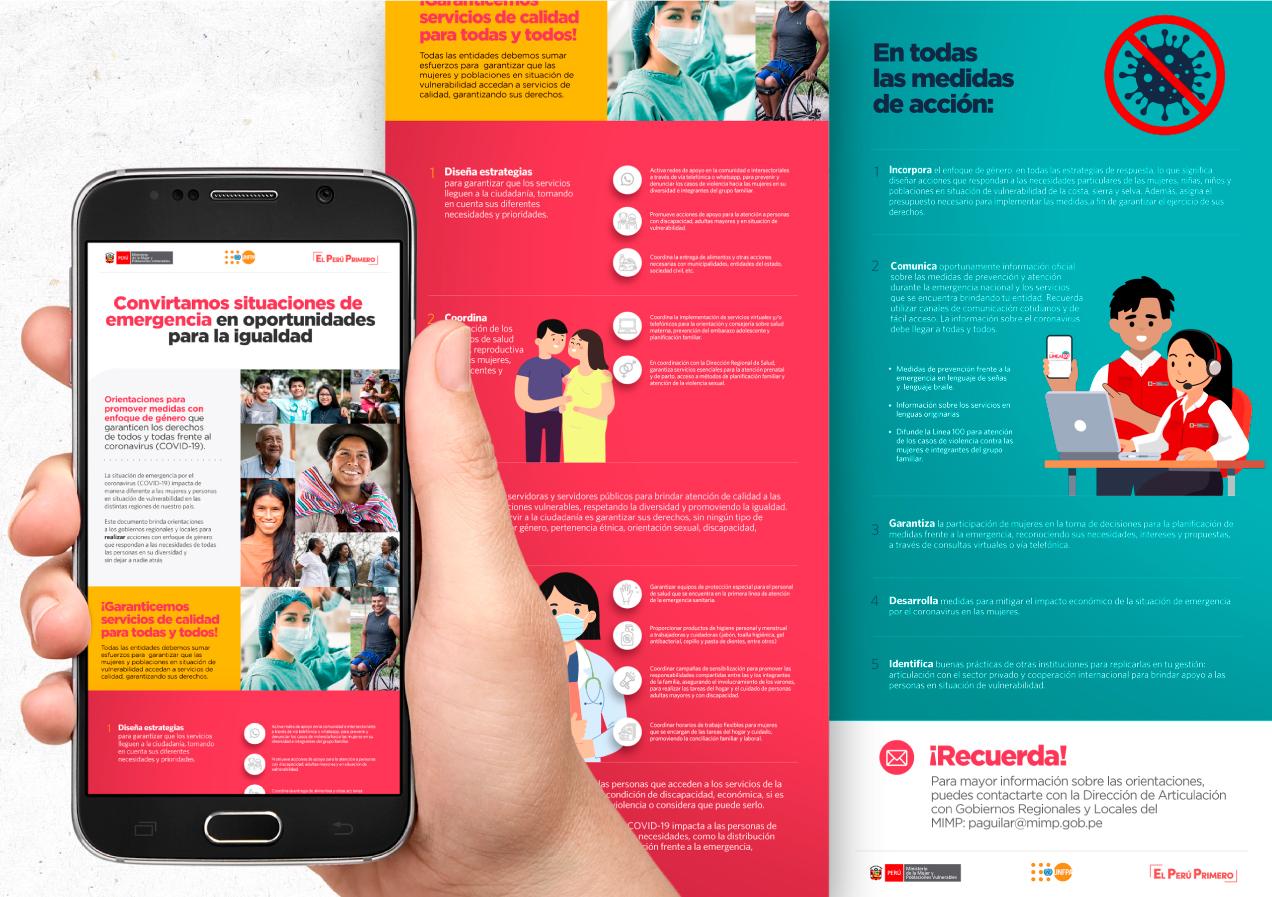 """Cartilla Campaña """"Convirtamos situaciones de emergencia en oportunidades para la igualdad"""""""